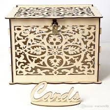 diy rustic wedding card box wooden money box with lock greeting card holder wedding decor supplies crafts birthday party favor gift bday cards beautiful