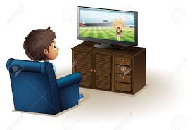 boy watching tv clipart. illustration of a young boy watching television on white background stock vector - 18836095 tv clipart l