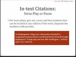Mla Text Citation Play