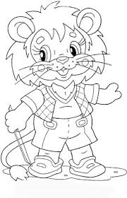 Small Picture Lion Cub at school coloring page Free Printable Coloring Pages