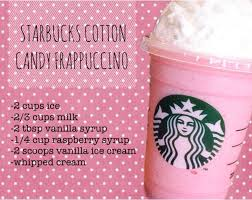 candy cotton candy diy drink frappuccino starbucks