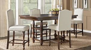 dark wood dining room furniture. stanton cherry 5 pc counter height dining room dark wood furniture
