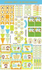 image 0 DIY Monkey 1st Birthday Party Supplies | Etsy