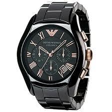 men s emporio armani watch ar1410 black ceramic best chronograph mens emporio armani watch ar1410 black ceramic 0