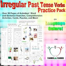 Irregular Past Tense Verbs – word lists, worksheets, activities ...