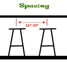 For Leg Spacing Leave 9 Bar Stool Sizes59