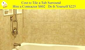 mesmerizing tile bathroom cost to a of re tiling tub surround