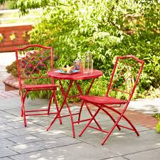Hd Designs Outdoors Hd Designs Outdoors Orchards 3 Piece Folding Bistro Set Apple