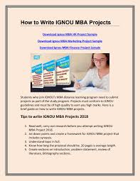 How To Write Ignou Mba Projects By Gph Book Issuu
