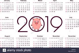 Chinese Calendar Template Pig Calendar For 2019 Symbol Of The Year In The Chinese Calendar