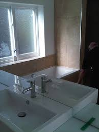 mirror cut to size mirror design ideas white wallpaper made to measure bathroom