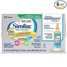 Similac Pro Advance Infant Formula With 2 Fl Hmo For Immune Support Ready To Feed Newborn Bottles 2 Fl Oz 48 Count
