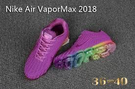 nike shoes 2018. newest nike air vapor max 2018 kpu purple multi-color girls women\u0027s running shoes