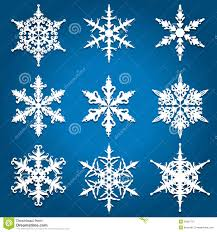 Different Designs Of Snowflakes Christmas Snowflake Designs Stock Vector Illustration Of