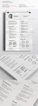 premium resume templates available for clean resume template realised by realstar cascade