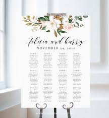 Wedding Seating Chart Magnolia Wedding Instant Download