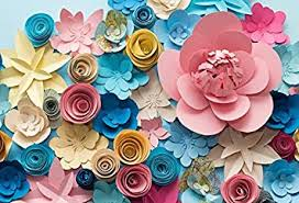 How To Make Paper Flower Backdrop Amazon Com Leyiyi 7x5ft 3d Paper Flowers Backdrop Kids Happy