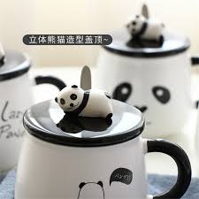 office coffee cups. online shop cute panda mugs cup personality milk mug with lid spoon office coffee tumbler ceramic cups breakfast cartoon xmas gifts aliexpress mobile