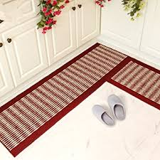 Brilliant Red Kitchen Rugs Ustide Rug Setkitchen Floor Washable Runner Stripe Intended Creativity Design
