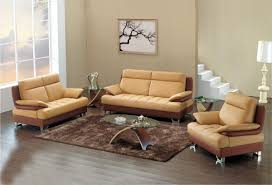 Cream Neutral Wall Living Room Ideas With Light Brown Sofa For