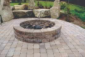 Stacked Stone Fire Pit fire pits mutual materials 2402 by xevi.us