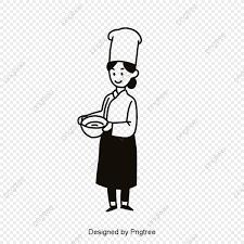 無料ダウンロードのためのアニメ女性シェフ素材 漫画 女子学生 食器png