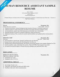 Human Resources Assistant Resume Examples Interesting Human Resource Assistant Resume Sample Resumecompanion HR