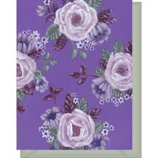purple note cards all purple white floral design blank note card violet cottage