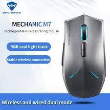 Machenike M7 kablosuz fare oyun faresi 16000 DPI OMRON RGB arkadan  aydınlatmalı programlanabilir şarj edilebilir PMW3212/PMW3335 bilgisayar  fare|Mice