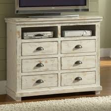 Willow Media Chest (Distressed White)