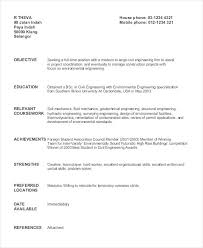 Resume Objective Civil Engineer sample resume for civil engineering student topshoppingnetwork 24