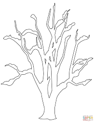 Small Picture Bare Tree with Roots coloring page Free Printable Coloring Pages