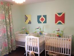 nursery furniture for small spaces. the nursery is done view 2 triplet cribs layout for small spaces furniture