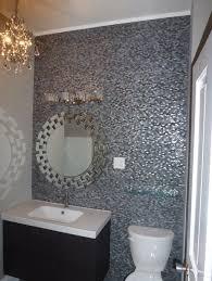 terrific gray mosaic bathroom wall tiles as