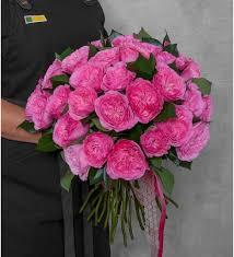 <b>Букет</b>-<b>соло пионовидных роз</b> Maria Theresia (15,25,35,51,75 или ...