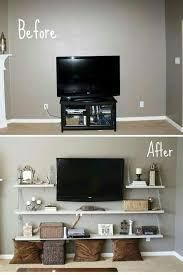 modern corner tv wall mount with shelf luxury diy best flat screen than sets compact 45