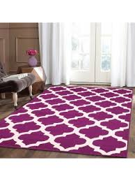 trendy without border purple area rug