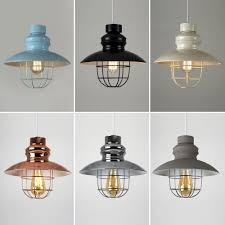 Industrial Light Shade Details About Modern Industrial Style Caged Ceiling Pendant