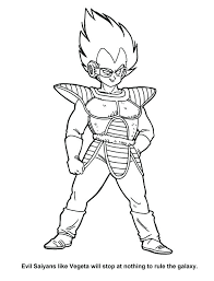 Dragon Ball Z Coloring Pages Vegeta At Getdrawingscom Free For