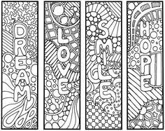 bookmarks coloring page zentangle inspired bookmarks thoughts