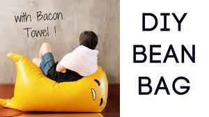 diy gudetama プリケシ inspired bean bag n bacon towel