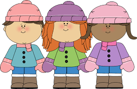 Image result for free winter weather with kids  clip art