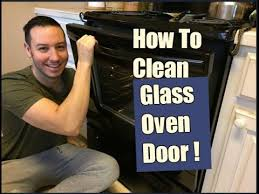 how to clean an oven glass door inside out