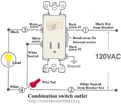 wiring diagram for a switched receptacle how to wire switches combination switch outlet light fixture on switch and outlet combo wiring diagram