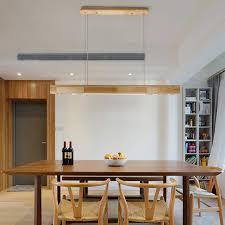 Zmh Led Pendelleuchte Holz Rustikal Esstisch Hängelleuchte Esszimmer Pendellampe Hängellampe Mit Einbauspots Für