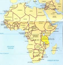 map of africa mount kilimanjaro  africa map