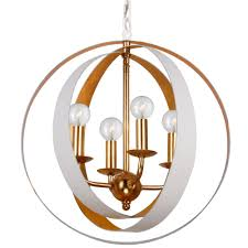 4 light matte white antique gold industrial mini chandelier