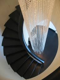 stairwell lighting. CLEAR CRYSTAL STAIRWELL LIGHT SCULPTURE Stairwell Lighting
