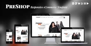 Ecommerce Website Templates Cool PreShop Responsive ECommerce Website Template By JollyThemes