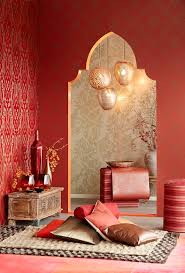 Moroccan Inspired Allover Patterns in Reds, Creams and Golds | Yasmin  Decorative Wallcoverings